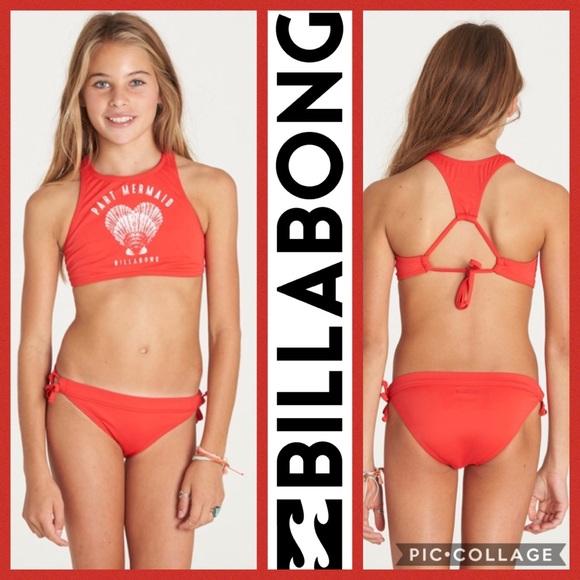 18a9c52506044 Billabong Swim | Kids Sol Searcher 2 Piece Red 10 | Poshmark